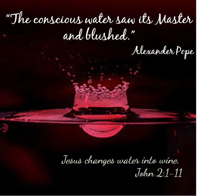 The Conscious Water Saw Its Master & Blushed